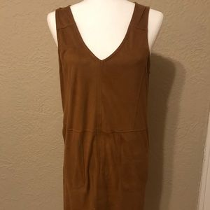 NWOT Brown Suede Dress